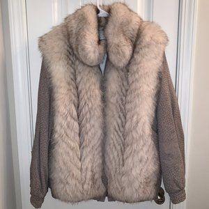 Vintage Fox Fur Coat, Jones Furs, Converts to Vest